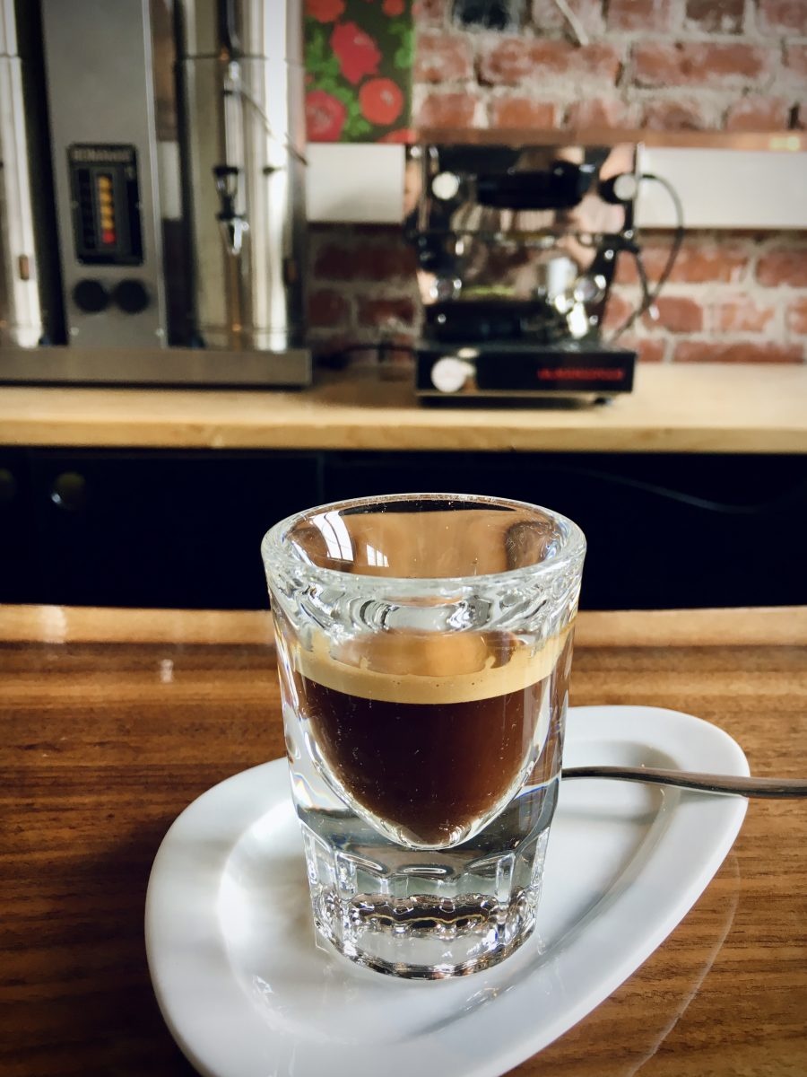 Espresso in coffee house