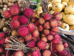 Rambutan fruit close up