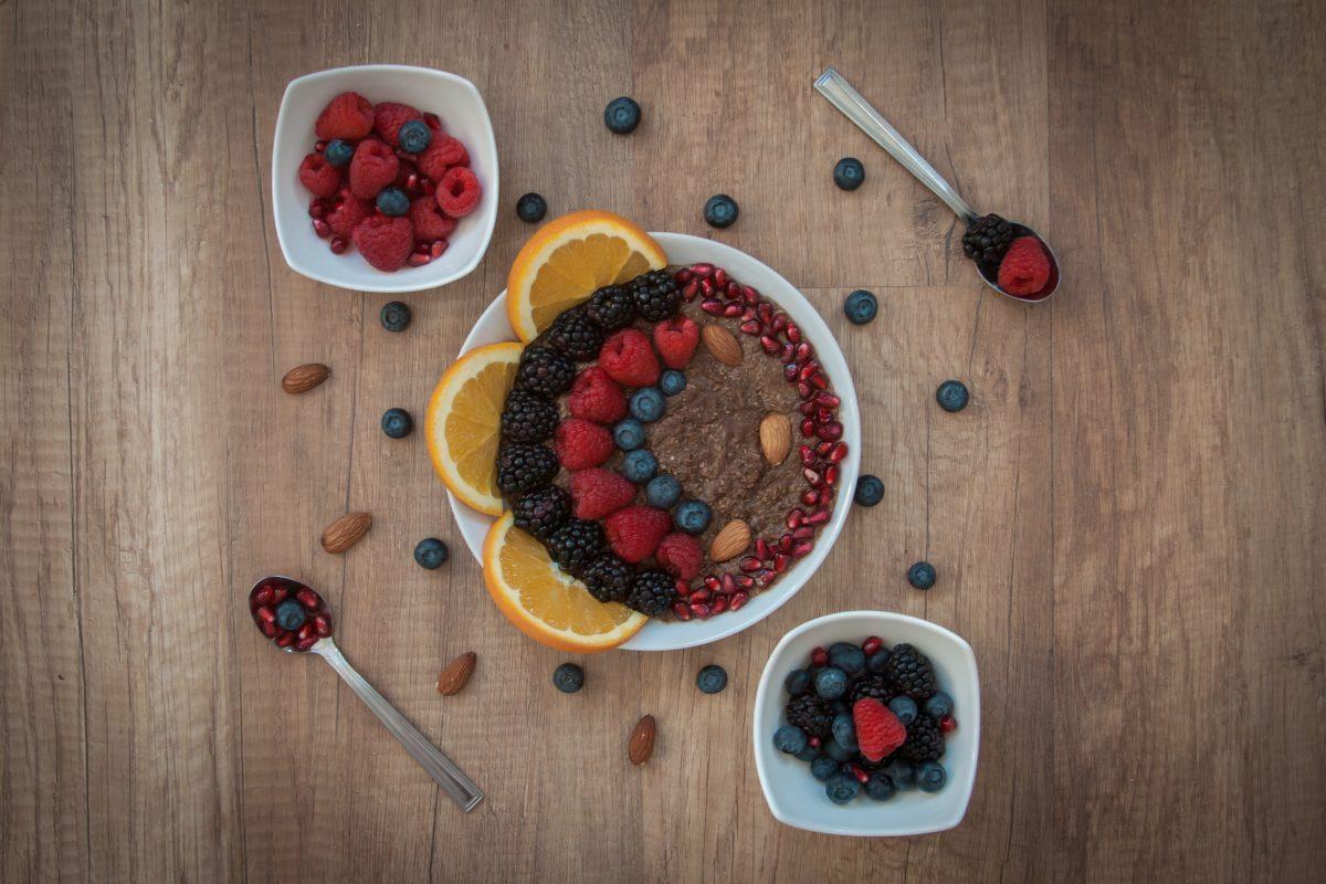 Sweet quinoa with berries for breakfast