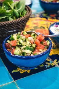 Small salad as a side dish